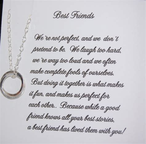 friend necklace christmas gift friendship