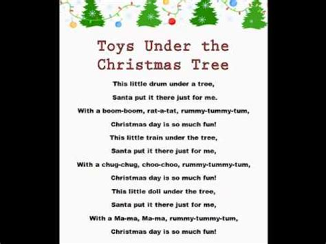 toys under the christmas tree christmas rhymes youtube