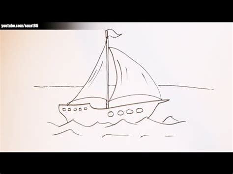 How To Draw A Water Boat by How To Draw A Boat On Water