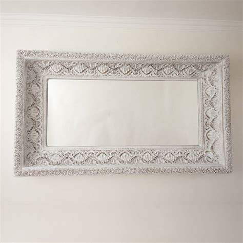 large shabby chic mirror two metre large shabby chic whitewashed mirror by decorative mirrors online