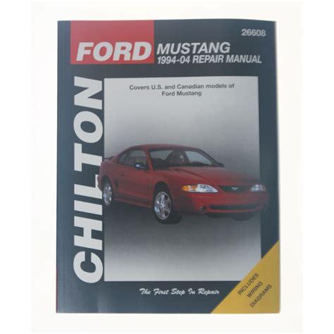chilton car manuals free download 2000 lexus es interior lighting mustang chilton repair manual 1994 2004 cj pony parts