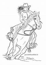 Horse Colorare Cavalli Disegni Cowgirl Coloring Portalebambini Bambini Printable Cavallo Stampare Come Disegno Portale Wild Trovate Sempre Li Lady Disegnare sketch template