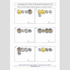 La Fiche D'exercices De Maths « Comptage Des Pièces De Monnaie Canadienne (petites Collections