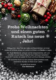 Weihnachtsgrüße Text An Chef : weihnachtsgr e f r belegschaft vorlage f r betriebsrat ~ Haus.voiturepedia.club Haus und Dekorationen