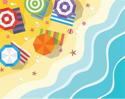 Beach Illustration Vector Aerial Summer Vecteezy Freight