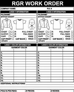 embroidery order form template With embroidery order form template free
