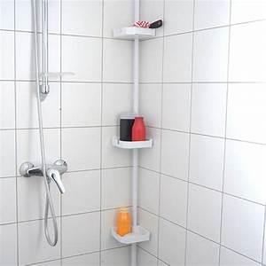 etagere salle de bain ventouse uteyo With porte de douche coulissante avec ventouse murale salle bains
