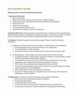 grant application templates 6 free word pdf download With application for funding letter template