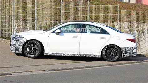 mercedes amg cla spy shots  video