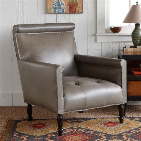 gray leather club chair robert redford s sundance catalog