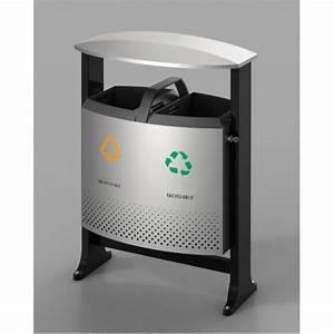 poubelle d39exterieur tri selectif 2x39l s3o With poubelle tri selectif exterieur