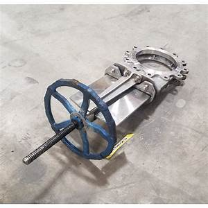 Used 10 U0026quot  Stainless Steel Manual Knife Gate Valve For Sale