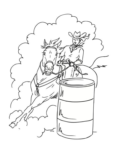 barrel racing   rodeo event    horse  rider attempt  complete  clover leaf