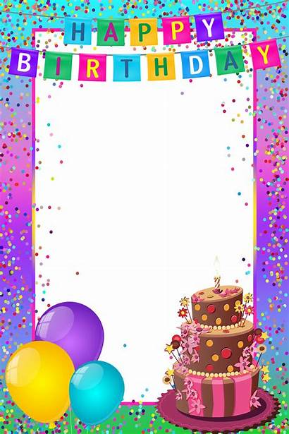 Birthday Happy Transparent Frame Multicolor Frames Clipart