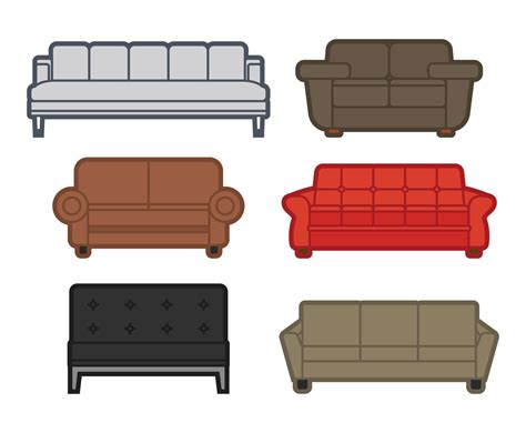 sofa outline vector couch vector vector art graphics freevector