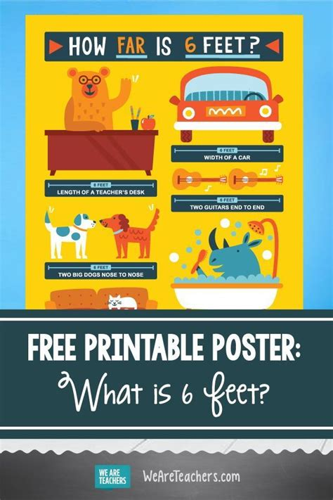 Social Distancing Poster: What Is 6 Feet? (Free Printable