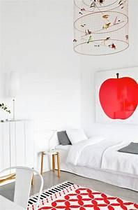 chambres enfant blanches avec des touches de couleurs design With tapis chambre bébé avec bakker plantes et fleurs