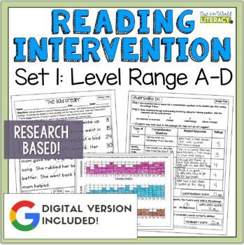 Reading Intervention Programreading Passages, Comprehension, Fluency, Word Work
