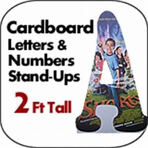 Big giant oversized cardboard letters numbers dino for 2 foot cardboard letters