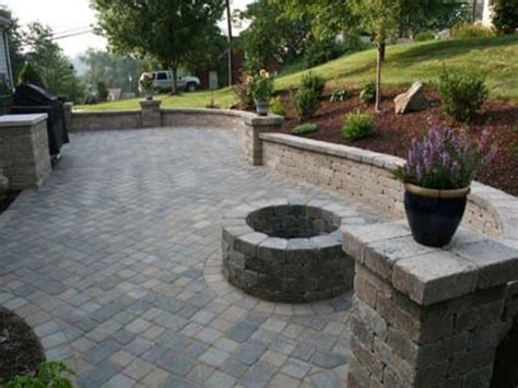 pavestone patios sted concrete patio with pit
