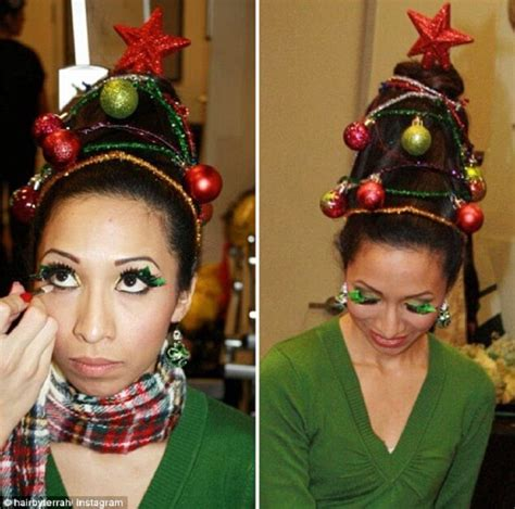 christmas tree hair do tree hair is the new festive trend look4ward