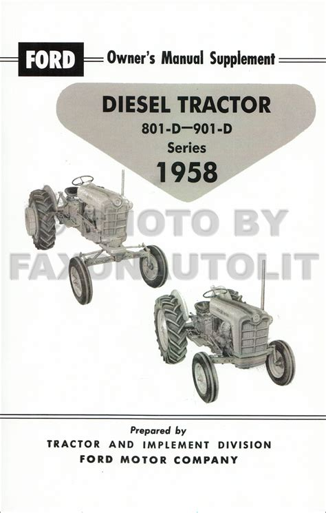 ford   series tractor owners manual reprint