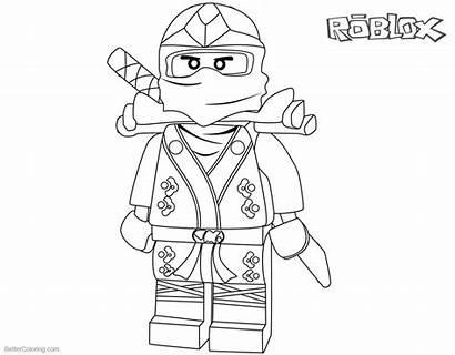 Roblox Coloring Pages Character Printable Ninjago Bettercoloring