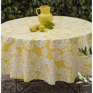 Nappe Ovale Enduite : nappe enduite ronde jaune stylisee ~ Teatrodelosmanantiales.com Idées de Décoration