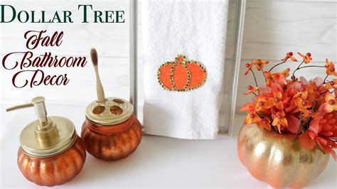 dollar tree diy fall bathroom decor youtube