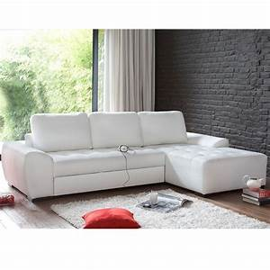 Canapé Blanc Design : canape d angle blanc maison design ~ Teatrodelosmanantiales.com Idées de Décoration