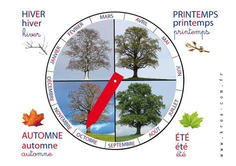 roue des saisons d inspiration montessori a telecharger diy krea