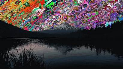 Trippy Backgrounds Wolf Rpg Psychedelic Redd Scenery