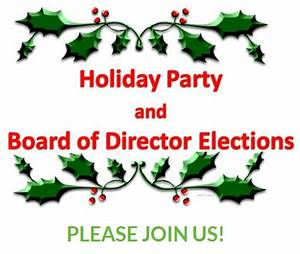 Holiday Party and Board of Director Elections – The Haylofters