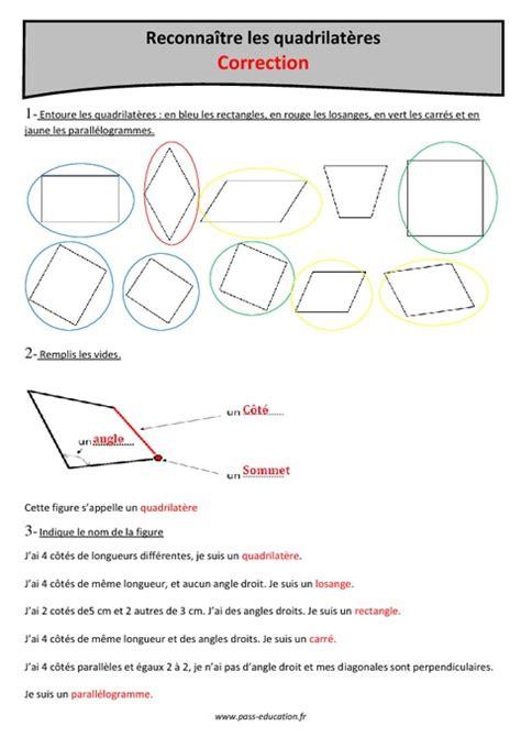 carre rectangle parallelogramme  losange