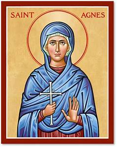 Women Saints: St Agnes Icon Monastery Icons