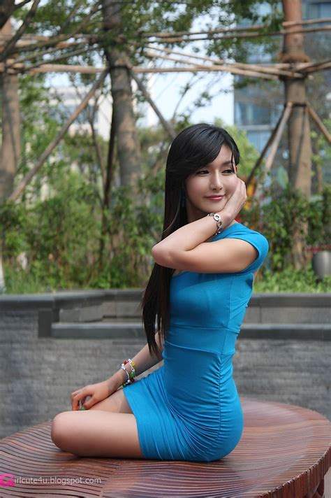 Xxx Nude Girls Cha Sun Hwa In Blue Mini Dress