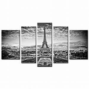 Tableau En 5 Parties : tableau contemporain paris eiffel 5p achat vente ~ Dailycaller-alerts.com Idées de Décoration