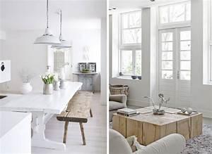 Intrieur Blanc Et Bois Brut Ide Dcoration Design Salle