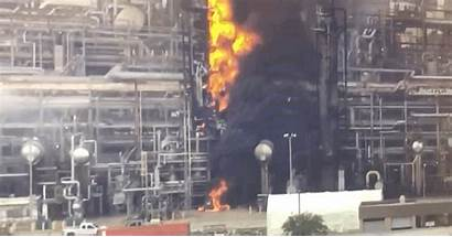 Chemical Plant Fire Flames Exploded Into Another