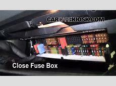 Interior Fuse Box Location 20042010 BMW X3 2008 BMW X3