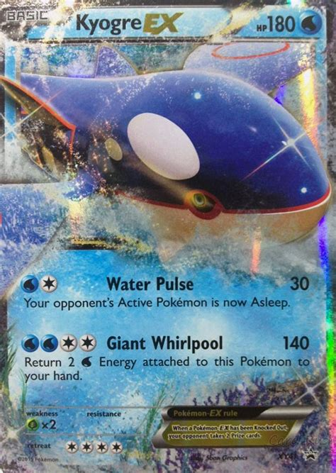 To trade/buy/sell cards, see /r/pkmntcgtrades. Pokemon XY Kyogre XY41 EX Holo Normal/Regular Size Promo Card   eBay