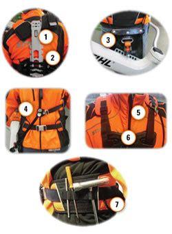 advance x treem forestry brushcutter harness stihl proline