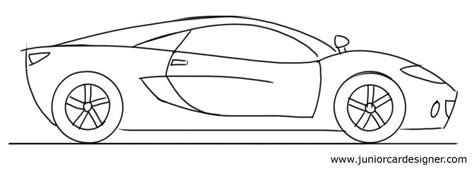 Pencil And In Color Drawn Ferrari