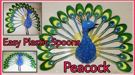 diy home decoration     peacock  plastic