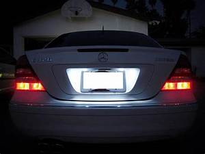 Light Bulb Adapter With Switch Mercedes Benz C E Cls Class White Led License Plate Lights