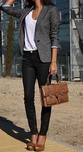 Best 25+ Gray blazer ideas on Pinterest   Work fashion Sunday mail zim and Are jeans business ...