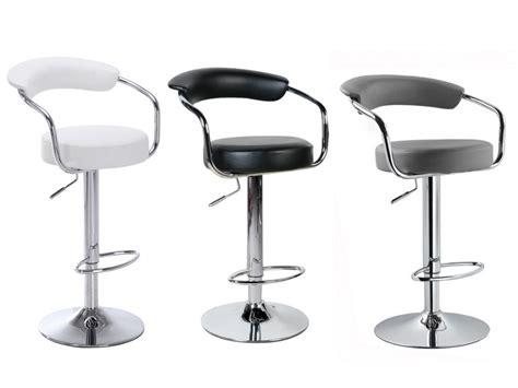 siege chaise haute le tabouret de bar canasta coloris blanc noir ou gris