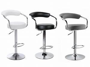 Tabouret De Bar Noir : le tabouret de bar canasta coloris blanc noir ou gris ~ Melissatoandfro.com Idées de Décoration