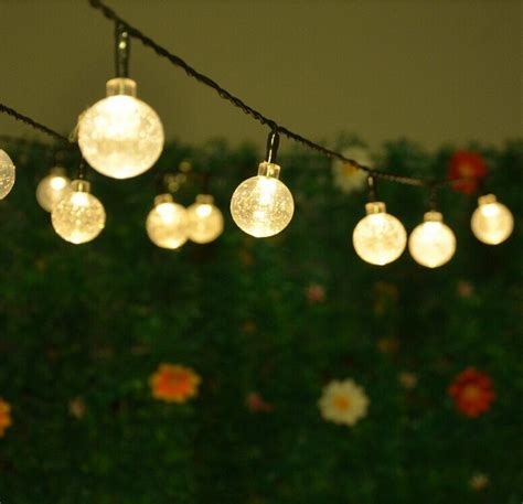 solar powered led outdoor string lights 5m 20leds