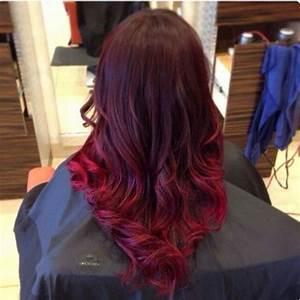 Ombré Hair Rouge : balayage rouge cerise ~ Melissatoandfro.com Idées de Décoration